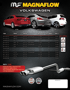 MagnaFlow Performance Exhaust Sell Sheets